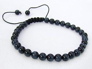 Natural Gemstone Men/'s bracelet all 6mm BLUE Tiger Eye beads
