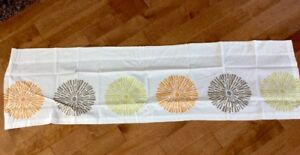 Room-365-Retro-Pom-Pom-Valance-White-Lime-Brown-Orange-54-034-x15-034-2-034-Rod-NIP