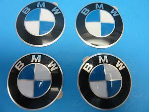 4 Genuine Bmw Wheel Center Cap Emblems Oem 36131181080 65