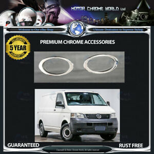 FITS-VOLKSWAGEN-T5-CHROME-FOG-LIGHT-COVERS-HIGH-QUALITY-5y-GUARANTEE-2003-2009