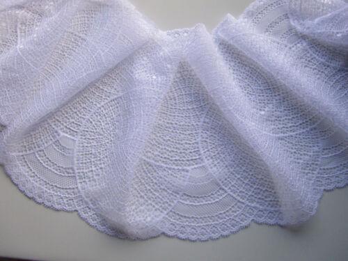 Spitze weiß elastisch 18,5cm Breit elegante Borte tolle angebot selten