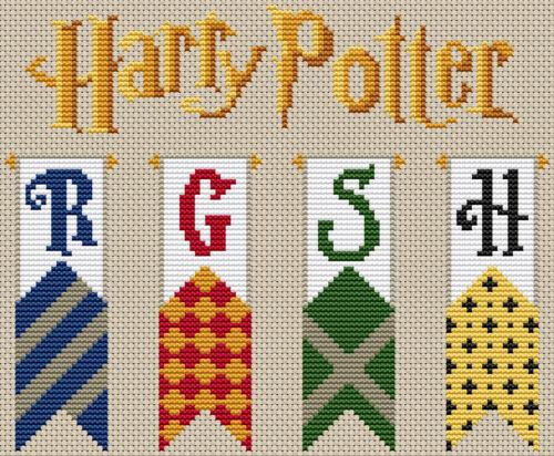 Banners de Harry Potter Cuadro De Punto De Cruz