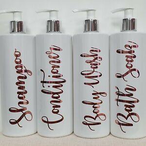 Reusable soap dispenser Set of 2 Hinch Inspired White Bathroom Pump Bottles