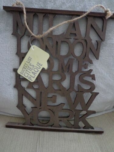 Bucket List Wall hanging//SIGNE Milan Londres Rome Paris New York New