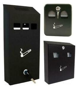 Verzamelingen Asbakken wall mounted ashtray ash bin outside pub garden office smoking tray 66129c  NEW