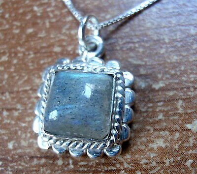 Lapis Square 925 Sterling Silver Pendant Corona Sun Jewelry
