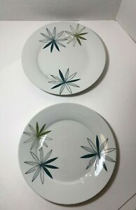 KUI-HUA-by-Pier-1-White-Blue-Green-Retro-Floral-2-Dinner-Plates-11-034