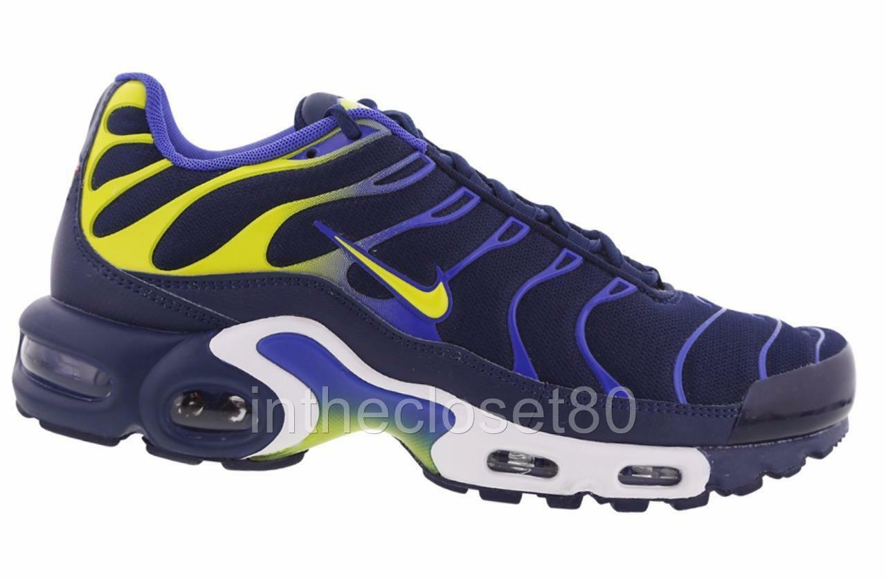 Nike Air Max Plus Tn Tuned 1 Binary Blau Electro Lime Grün Mens 852630 402
