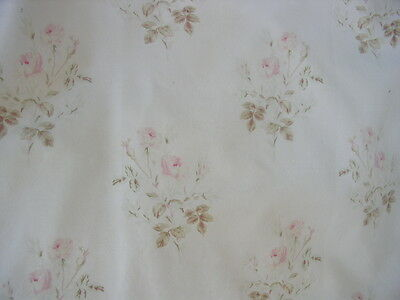 "Rachel Ashwell Shabby Chic Primrose Poplin Faded Pink Roses 54"" wide"