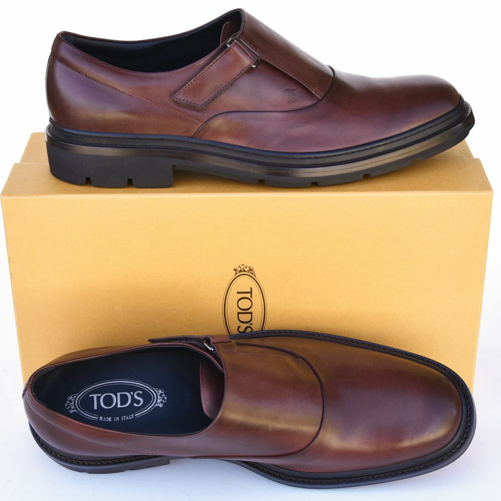 TOD'S Tods New sz UK 10.5 US US US 11.5 Mens Designer Logo Dress Leather Loafers schuhe 560634