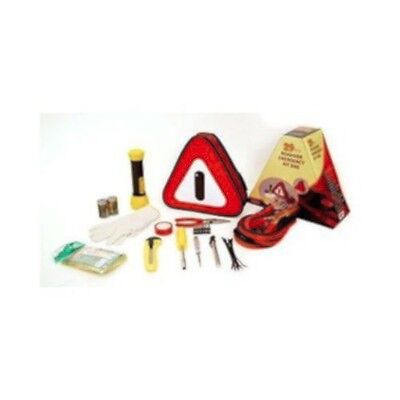 29 Pc Auto Roadside Emergency Tool Kit Bag w/ Flashlight Car Breakdown Safety