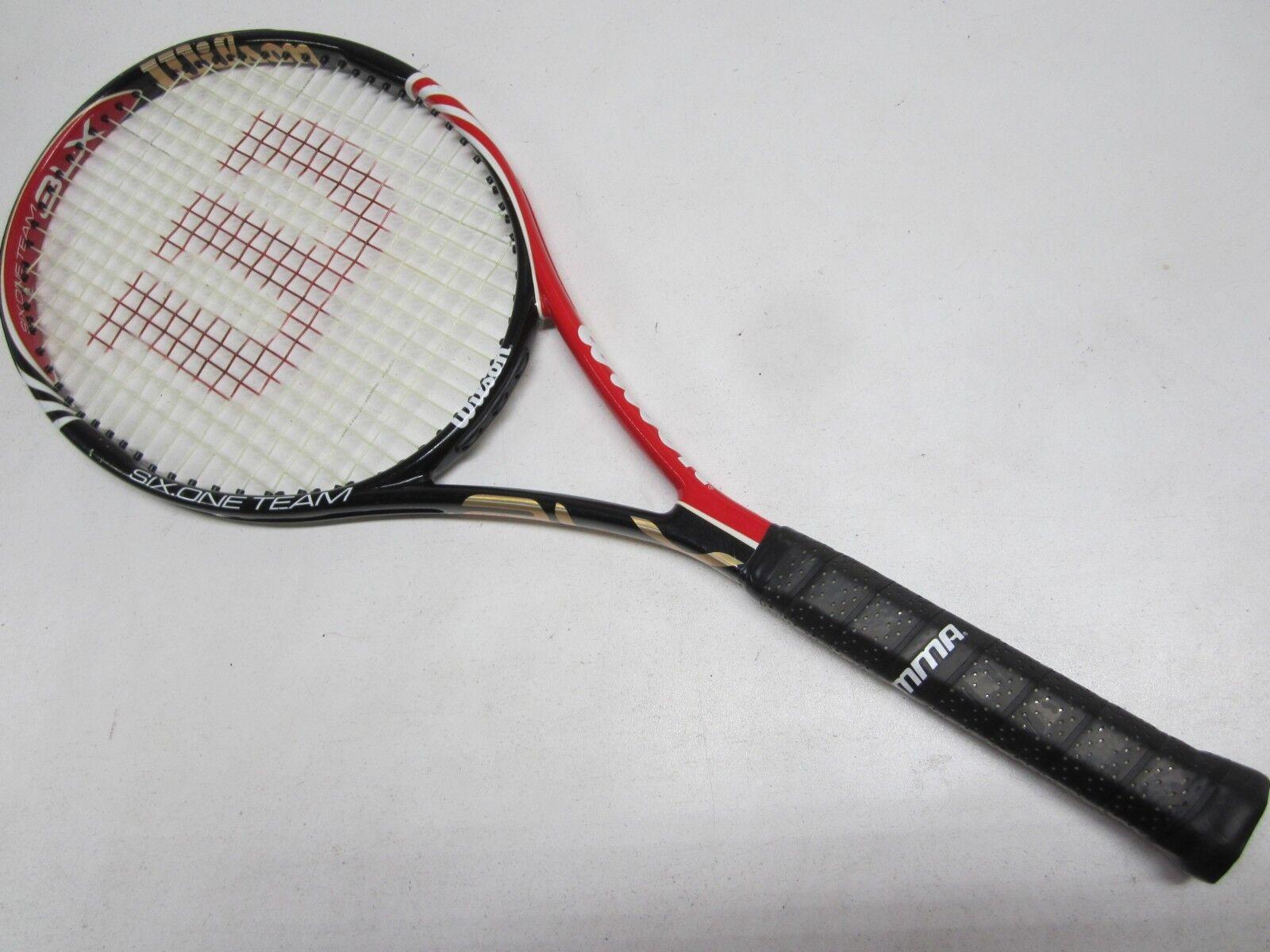 Wilson kfactor Ksix un equipo 95 tenis raqueta (4 3 8) distribuidor autorizado de demostración