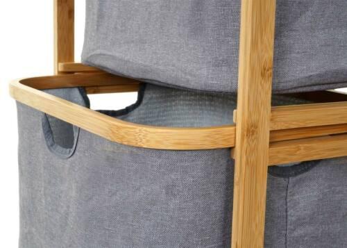 Linge de collection hwc-b56 Bambou 84x44x34cm 72 L Étagère Coffre Panier à linge Panier à Linge