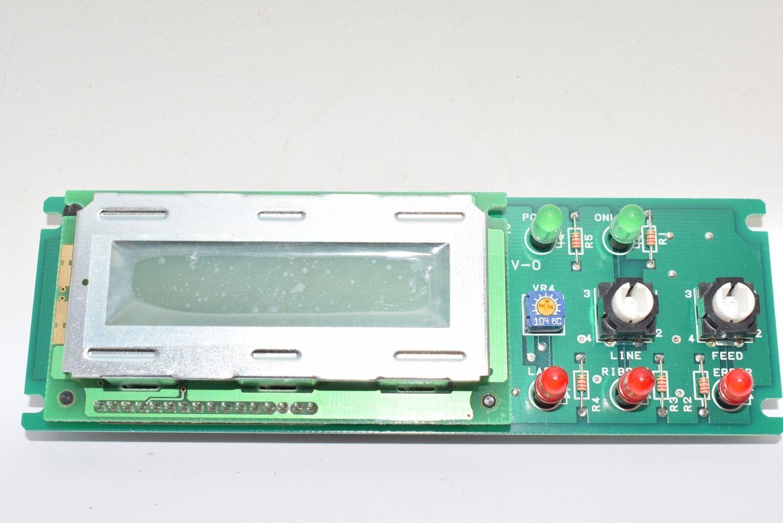 New Sato Pc Board Display Assembly M8480s Kb Ncm7301 Rev 12