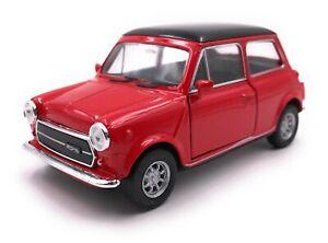 Voiture-miniature-MINI-COOPER-1300-Oldtimer-rouge-voiture-echelle-1-34-39-LGPL