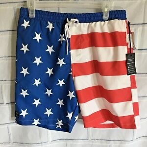 579d1465e80 Men's Brooklyn Cloth USA Flag Patriotic Board Shorts Swim Trunks ...