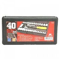 Great Neck Saw Pso40 Drive Socket Set, 1/4inch And 3/8inch Drive, 40piece on sale