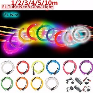Flexible-1-2-3-4-5-10-20M-LED-Flash-Neon-Light-Glow-EL-Strip-Tube-Wire-Rope-Car