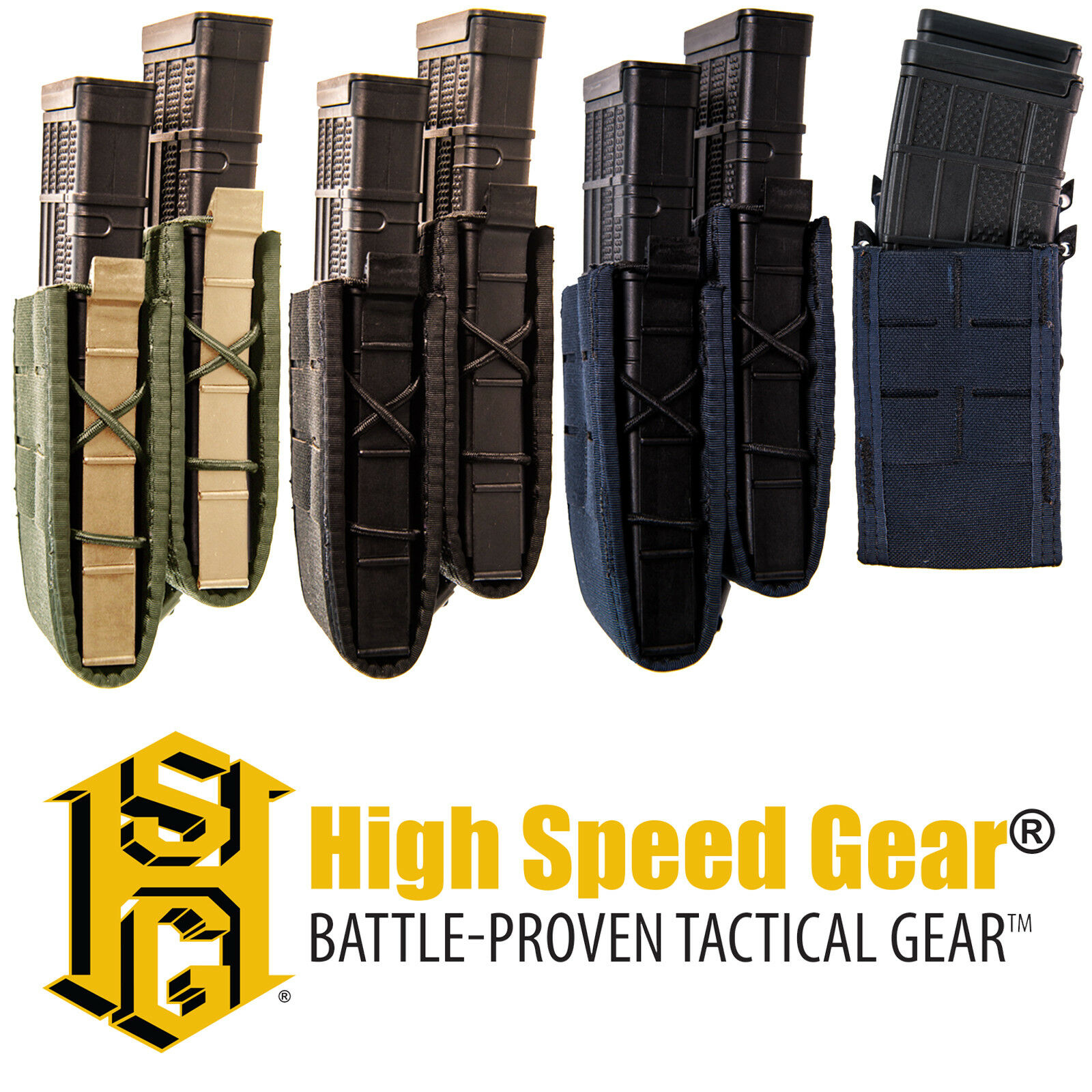 HSGI MOLLE Belt Mount LEO Law Enforcement Staggered Rifle Magazine TACO Pouch