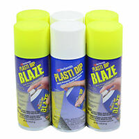 Plasti Dip Spray Blaze Yellow Lot Of (4) 11 Oz Cans W (2) Cans White Spray