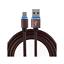 Lenovo-Moto-Z-Play-Type-C-USB-Ladekabel-amp-Steckverbindung-Type-C-Braun-1m Indexbild 1