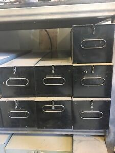 SAFE SAFETY DEPOSIT BOX VINTAGE 5x5x21.5. Black $Bulk Pricing$ Hardware Box