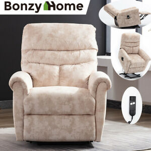 Power-Lift-Assist-Recliner-Chair-Electric-Padded-Suede-Sofa-With-RC-for-Eldly