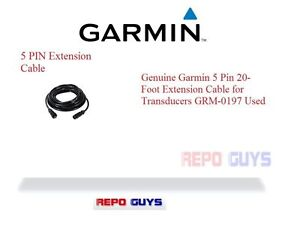Garmin-5-Pin-20-Foot-Extension-Cable-for-Transducers-GRM-0197-Used