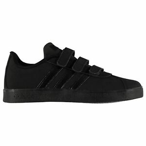 Adidas-Tribunale-Cloudfoam-Scarpe-per-Ragazzi-Nero-Scarpe