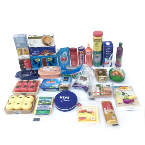 6 Puppenhaus Miniatur Puppenhaus Lebensmittel Supermarkt Zubehör SpielzeAZPZP 1