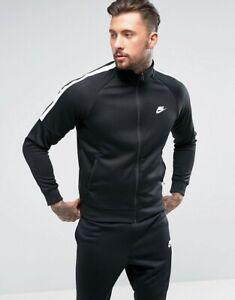Detalles acerca de Nike homenaje para Hombre Chándal Completo Negro Con  Blanco Recortar- mostrar título original