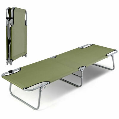 Protable Folding Camping Cot Military Army Camouflage Aluminum Foldable Bed