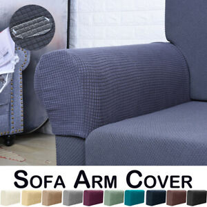 US Stretch Armchair Covers Chair Arm Protector Cover Sofa Couch Recliner Armrest