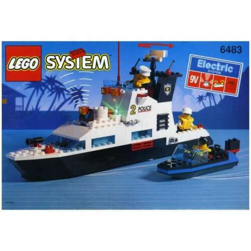 1994 Coastal patrol Precut Custom Replacement Stickers voor Lego Set 6483