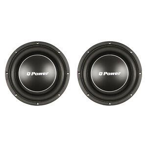 Q-Power-Deluxe-12-034-Shallow-Mount-1200W-Flat-Car-Subwoofer-2-Pack-QPF12-FLAT
