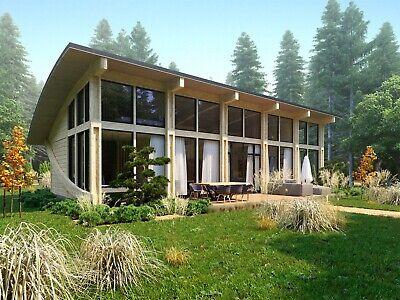 1120 Sq Ft Timber Frame Kit Tf B 136 2 Bdr Wood Prefab Diy Building House Cabin Ebay