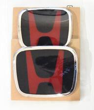 Speed Red Black H Emblem 2pcs Set Front Amp Rear For 06 15 Honda Civic Sedan Fits 2012 Honda Civic