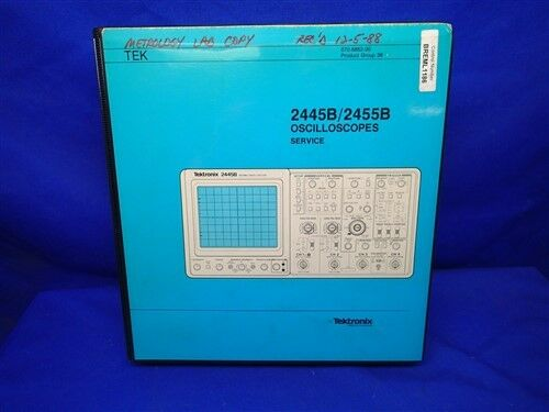 tektronix 2445 b 2455 b oscilloscopes service manual ebay rh ebay com tektronix 485 oscilloscope service manual tektronix 2213 oscilloscope service manual