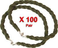 100 Pairs Trouser Twists Twist Bungee Elastic Leg Ties Army Cadet Military 100 X