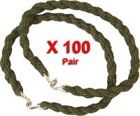 100 Pairs Trouser Twists Twist Bungee Elastic Leg Ties Army Cadet Military 100 X