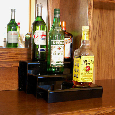 Translucent 34-inch 2 Tier Liquor Bottle Shelf Bar Pub Alcohol Display Decor