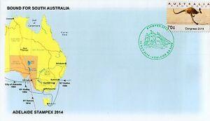 S1246cgt-Australia-Adelaide-Stampex-2014-City-of-Adelaide-pmk-cps-Kangaroo-cover