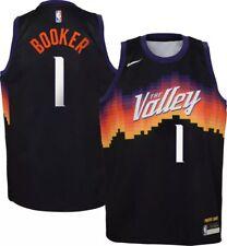 GXYAS Devin Booker Saison 21 New Jersey classique r/étro jeunesse Soul Swingman Jersey S-XXL Phoenix Suns 1# Maillot de basketball pour hommes et femmes