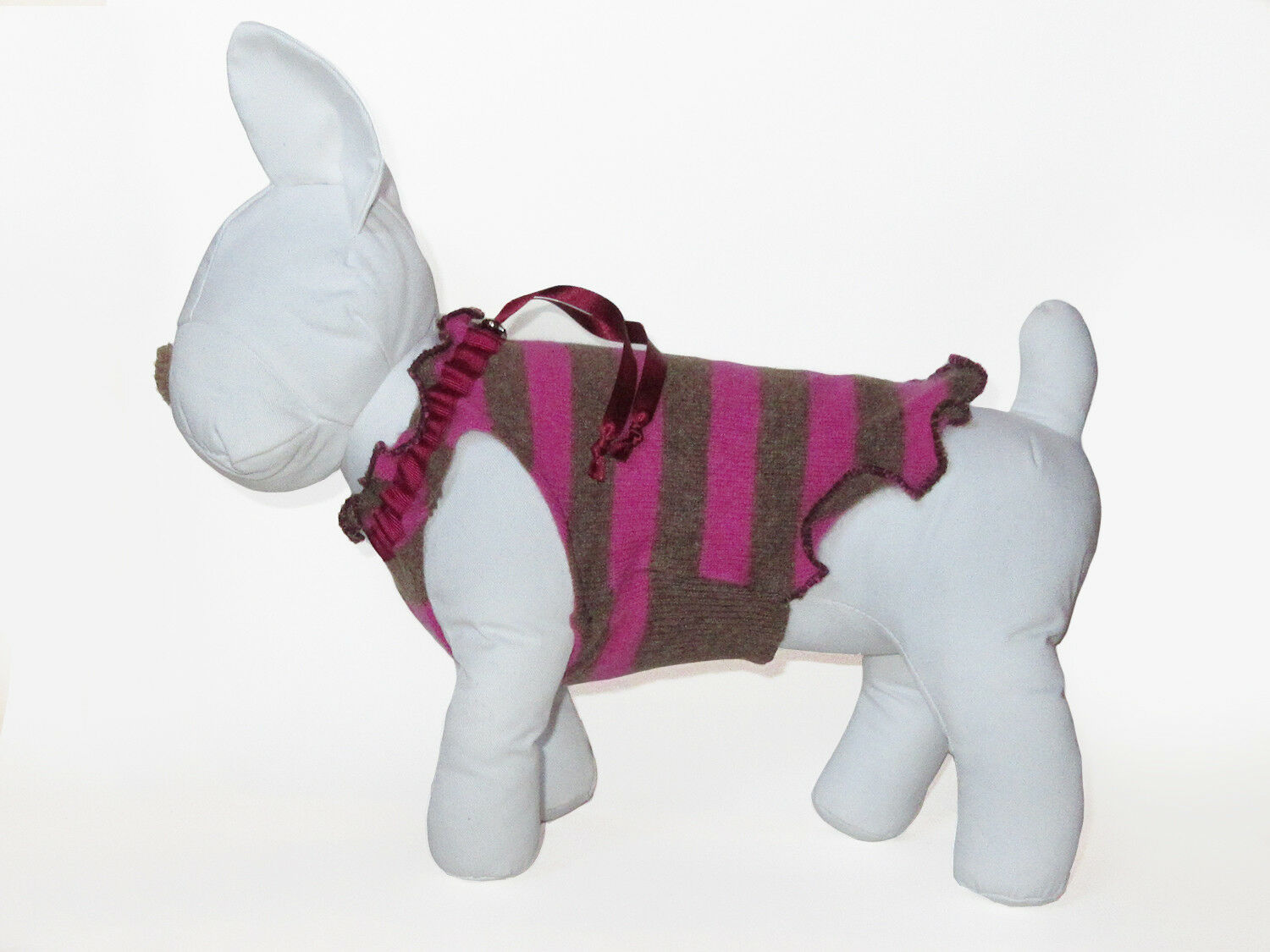 Luxury Striped Cashmere SMALL Dog Pet Sweater Jumper - Make it Woofwhile