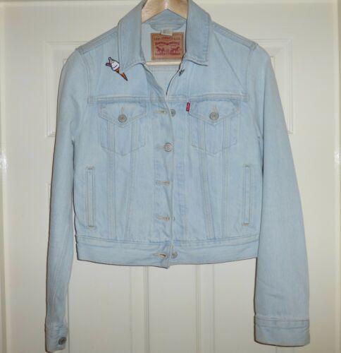 Decorated Bust Small Xs Jacket Short Ladies Trucker Size Modern 32
