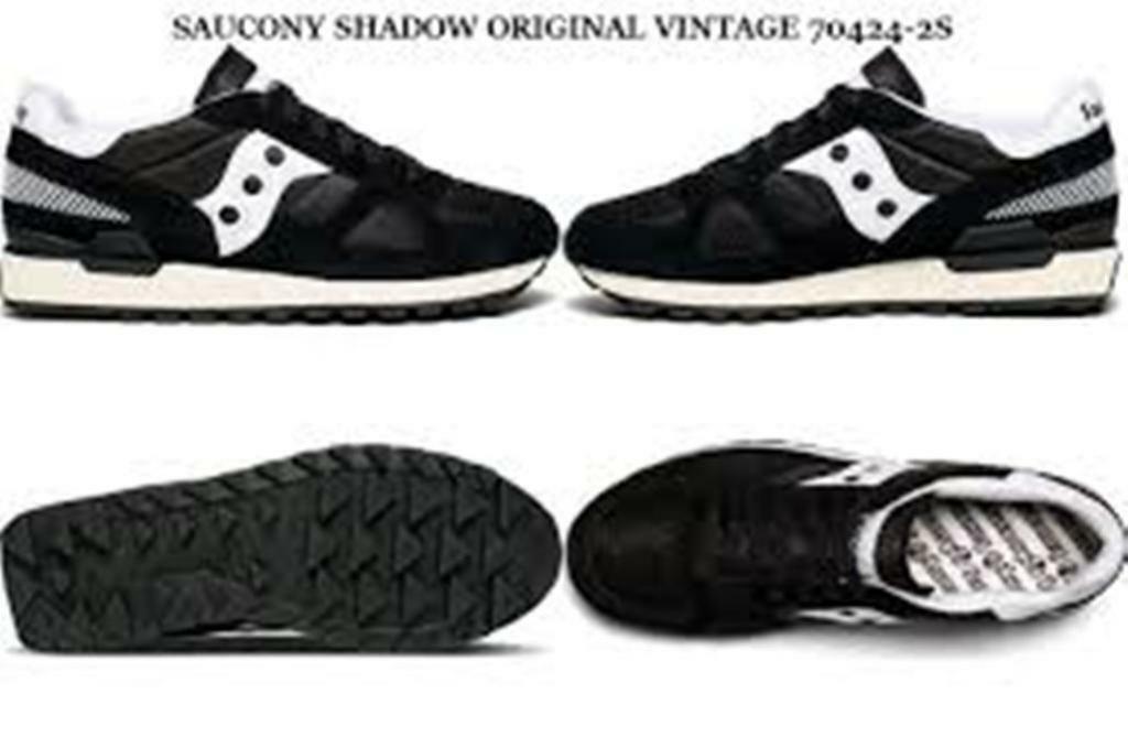 SCARPE SAUCONY SHADOW VINTAGE BLACKWHITE 70424 2s UOMO DONNA NUOVE 100% ORIGINA