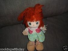 VINTAGE RARE PRECIOUS MOMENT JANIE CLOTH RED HAIRED GIRL PLUSH DOLL FIGURE TOY