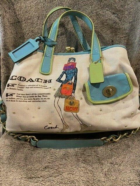 Coach Bonnie Cashin Jeweled Carryall Tote Bag - image 1