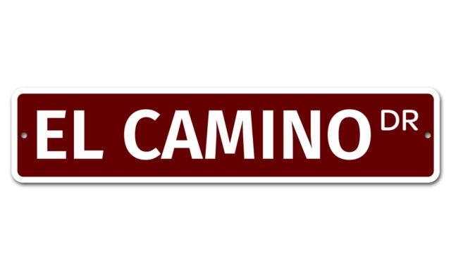 "5887 SS El Camino 4/"" x 18/"" Novelty Street Sign Aluminum"