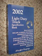 2002 FORD TRUCK SPECIFICATIONS MANUAL ORIGINAL BOOK F150 F250 SUPER DUTY & MORE